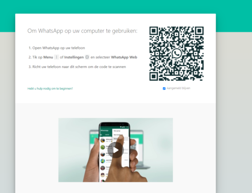 WhatsApp QR code scannen