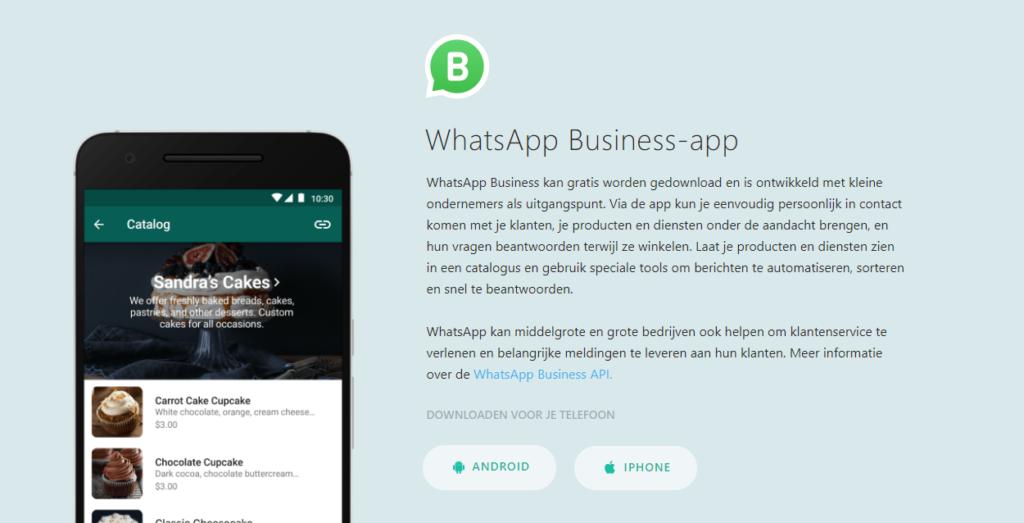 WhatsApp zakelijk