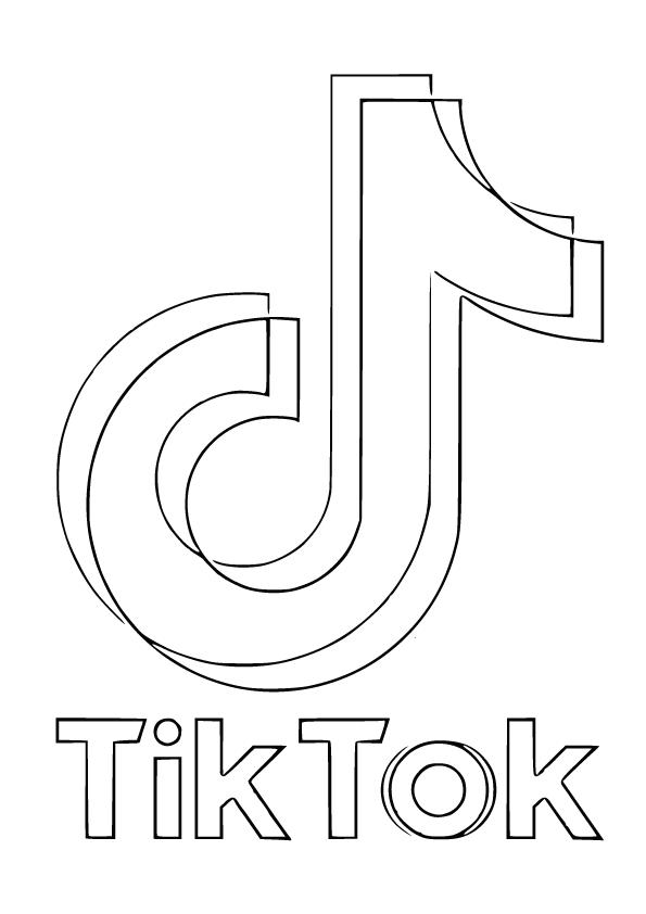 tiktok logo kleurplaat
