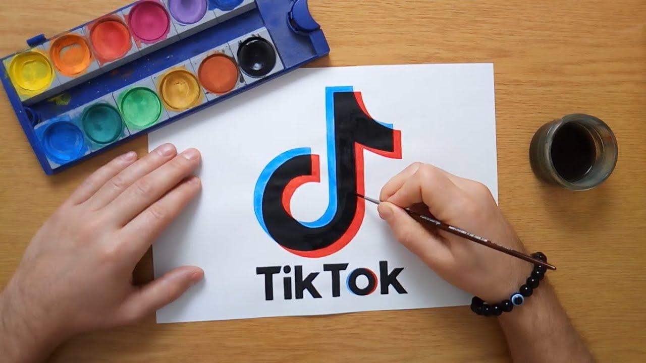 TikTok logo tekenen